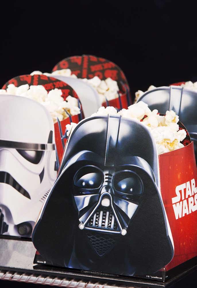 Já sabe onde vai servir a pipoca? Compre essas embalagens personalizadas com o tema Star Wars