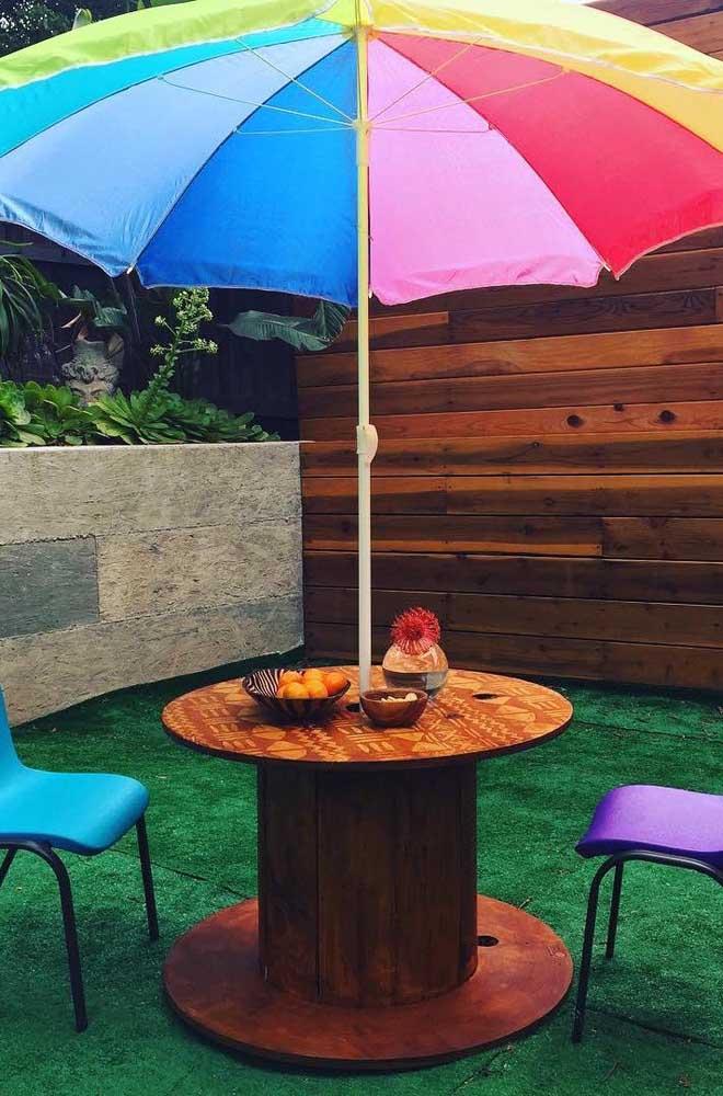 Ou ainda usá-la no quintal junto com o guarda-sol? Opções com a peça não faltam