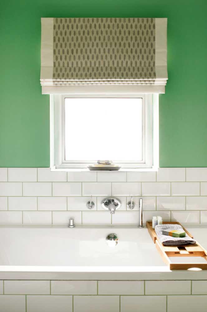 A combinação entre verde e branco é sempre um clássico