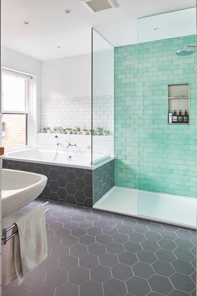 Garanta um novo ânimo ao seu banheiro apostando em um subway tile colorido