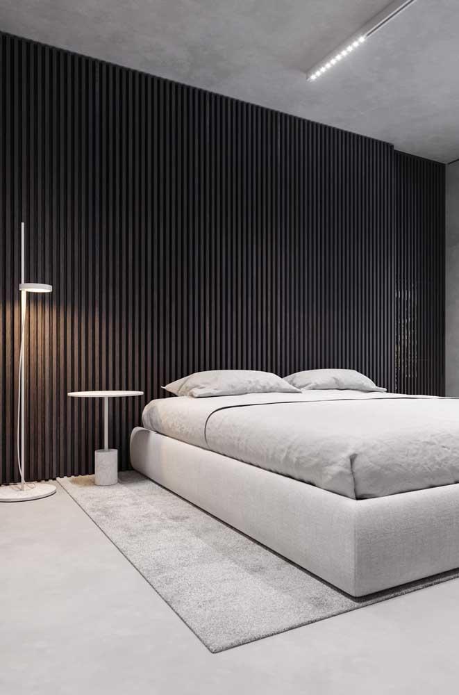 E por falar em moderno, repare no design desse abajur de chão; minimalismo puro