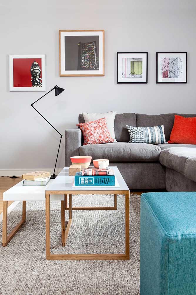 Modelo moderno e ajustável de abajur de chão para sala de estar