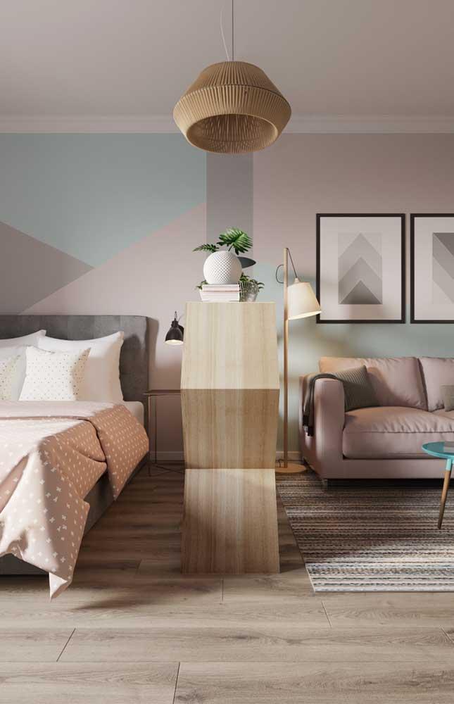 Abajur de chão simples e moderno para acompanhar a leitura no sofá