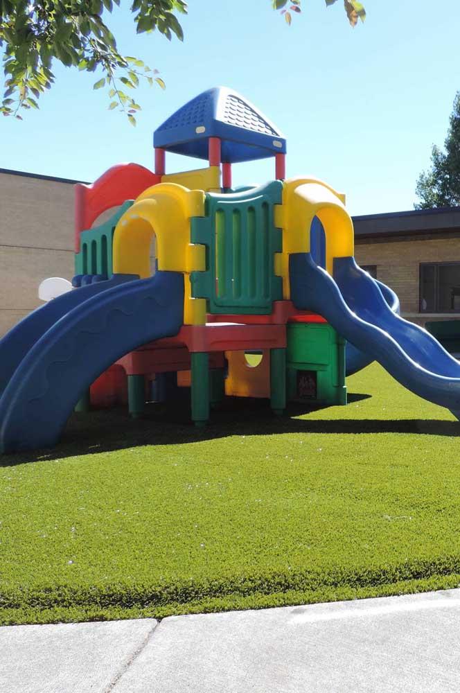 Playground de plástico para o quintal
