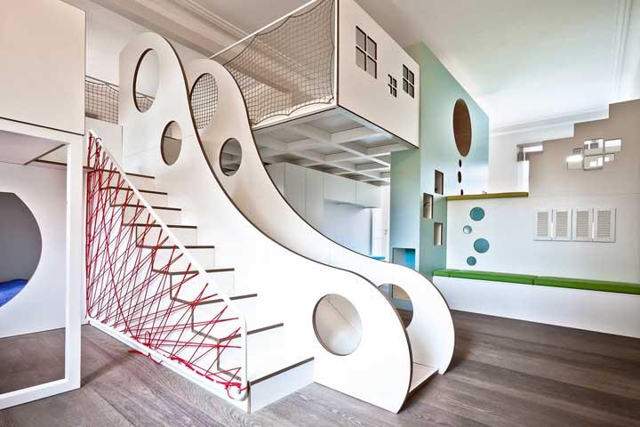 Inspiração de playground branco, para quem não deseja abusar muito das cores