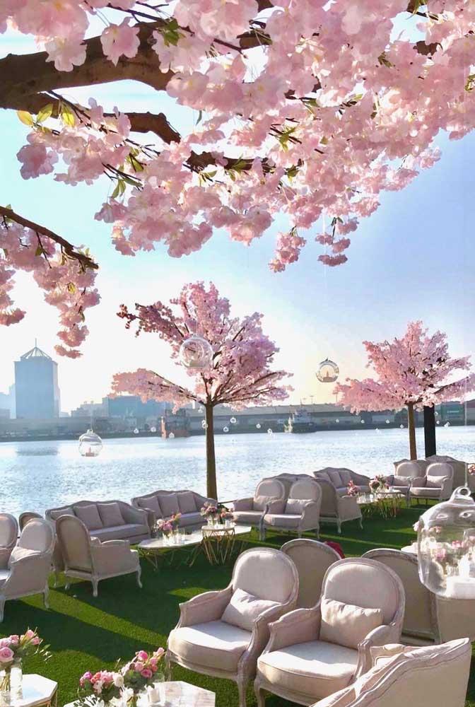 As flores de cerejeira inspiram e encantam a todos; são perfeitas para espaços públicos e de uso coletivo