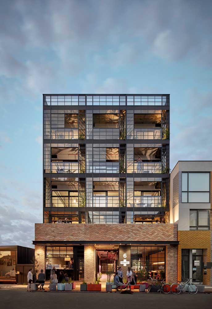 Prédios pequenos, de até quatro andares, por exemplo, podem ser construídos com estrutura em Steel Frame