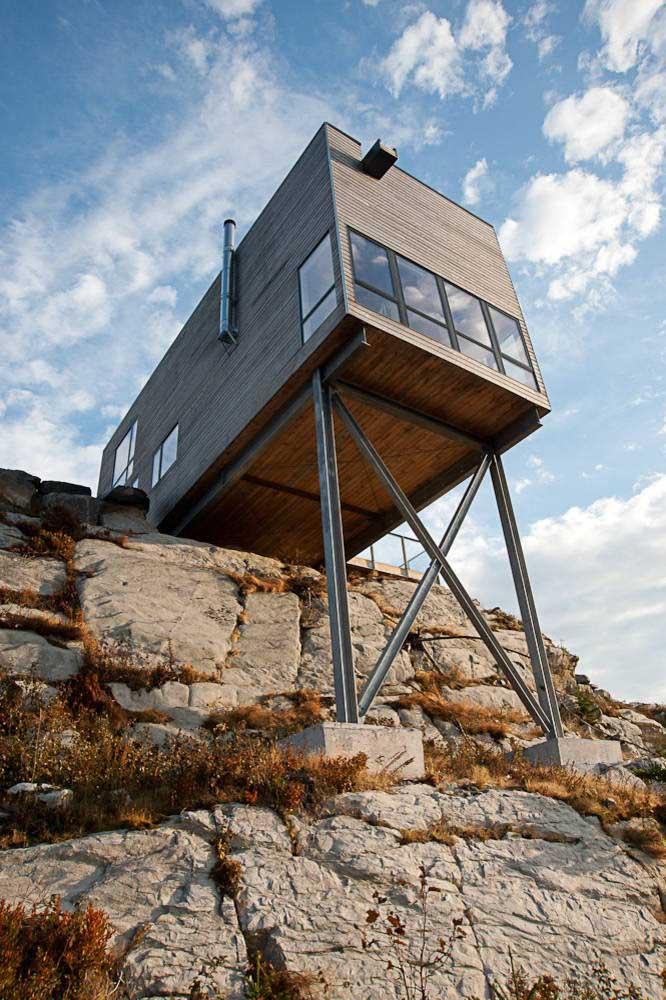 Devido à estrutura versátil e simplificada, terrenos montanhosos ficam ótimos com construções em Steel Frame