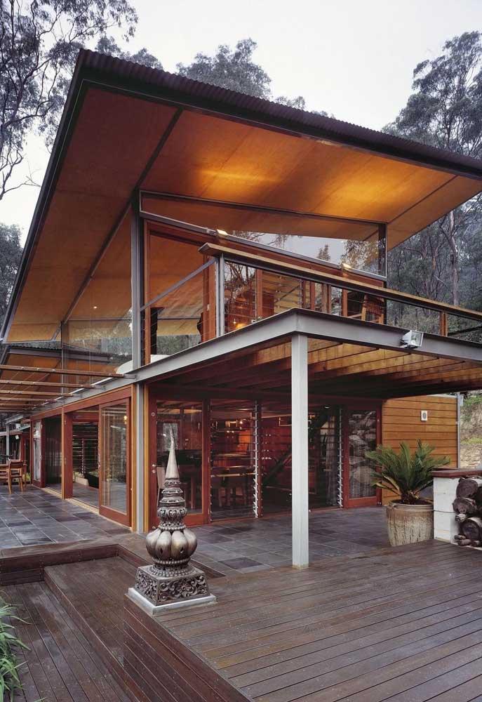 Essa casa super estilosa, feita em Steel Frame, ficou perfeita com os acabamentos escolhidos
