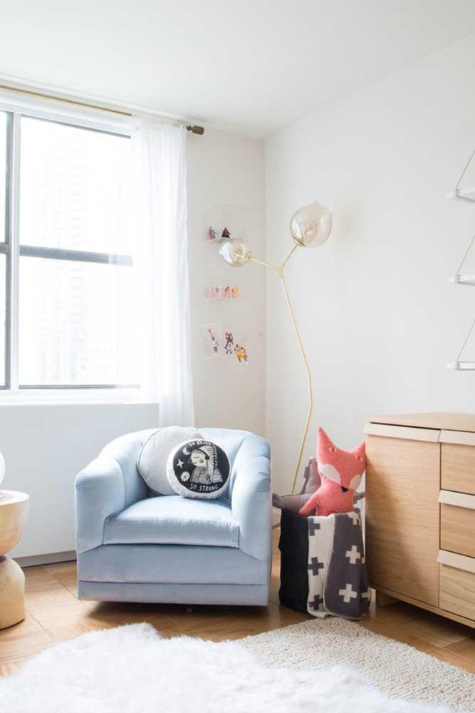 A delicadeza do voil é perfeita para completar a decoração do quarto infantil