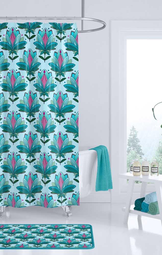 Um banheiro todo influenciado pela beleza da Flor de Lótus