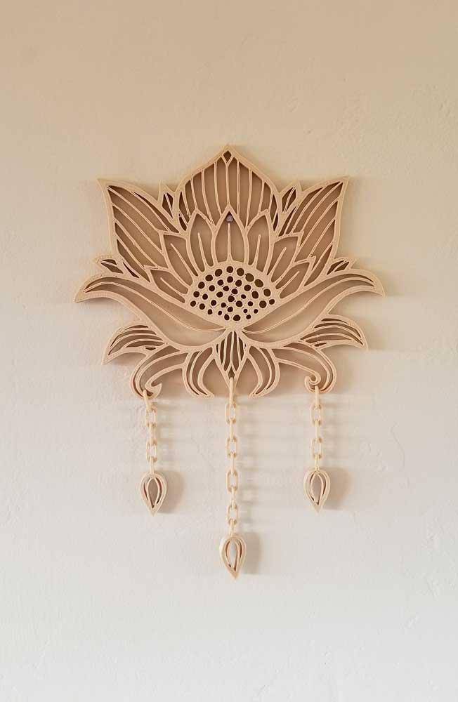 Pequeno e delicado enfeite de parede com a Flor de Lótus