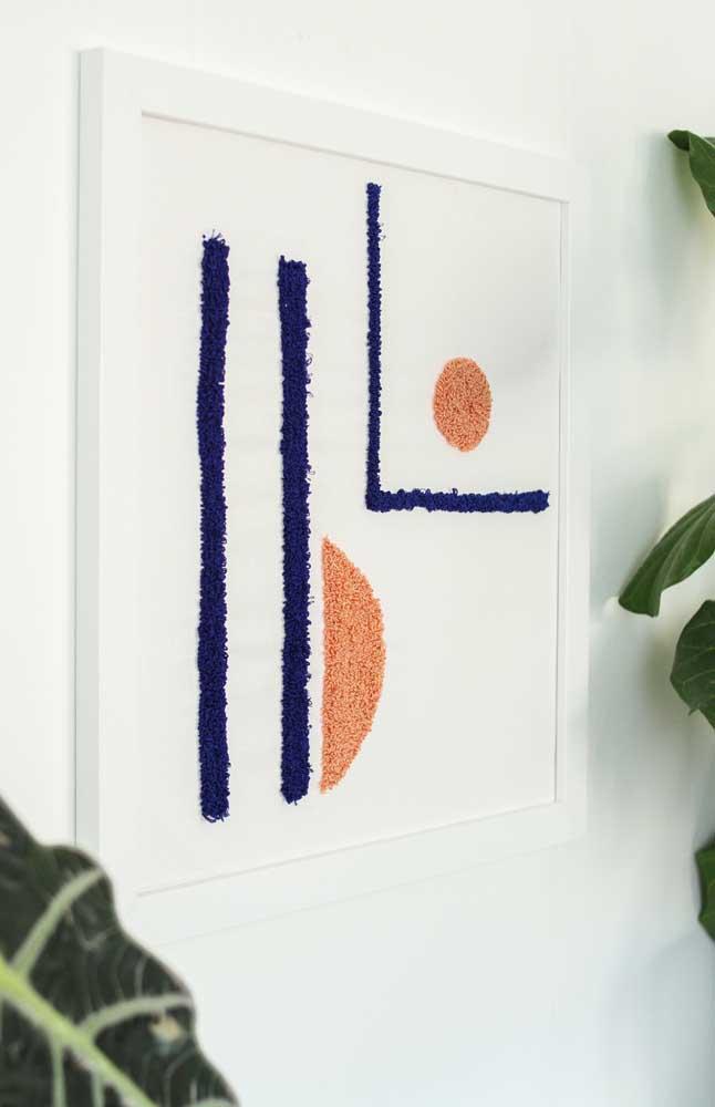 Um quadro moderno e minimalista na versão ponto russo, gostou?