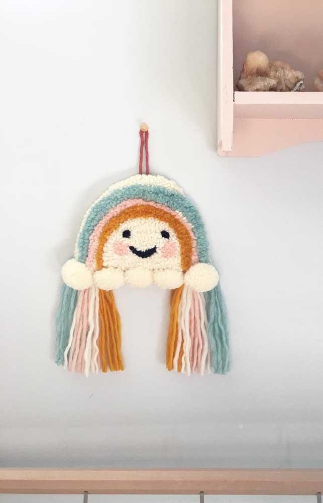 O ponto russo é uma ótima opção para decorar quartos infantis, dada sua textura macia e delicada