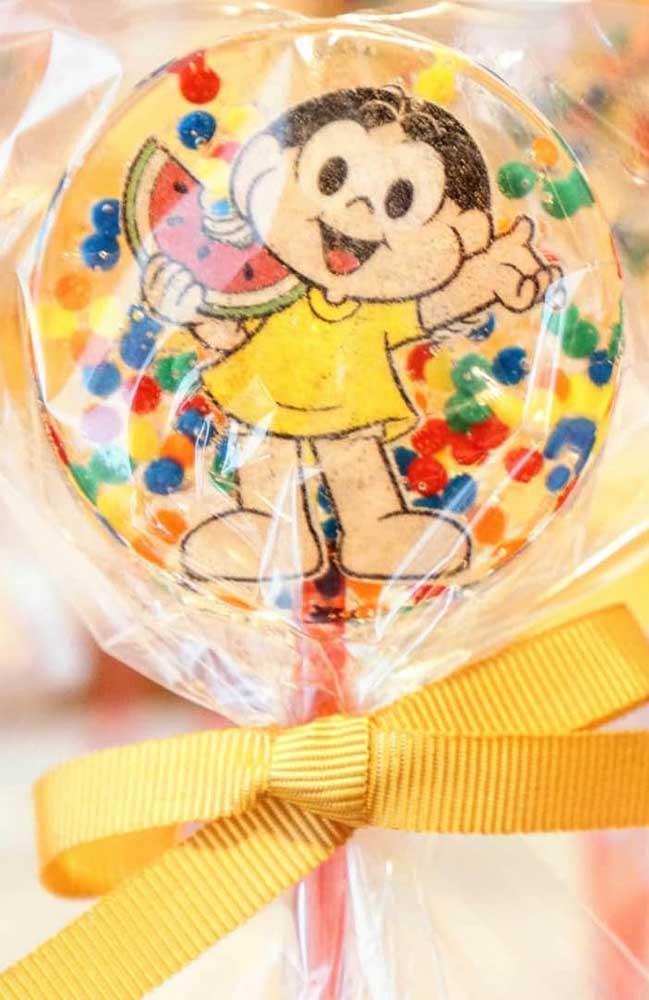Pirulito personalizado da Magali para festa de aniversário