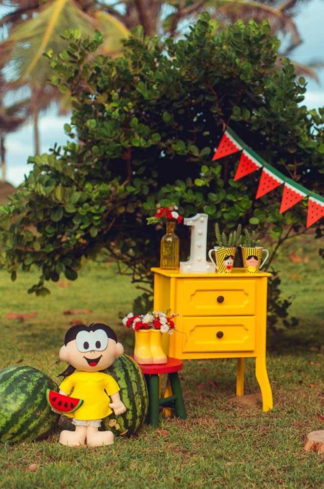 Festa Magali ao ar livre decorada com itens provençais