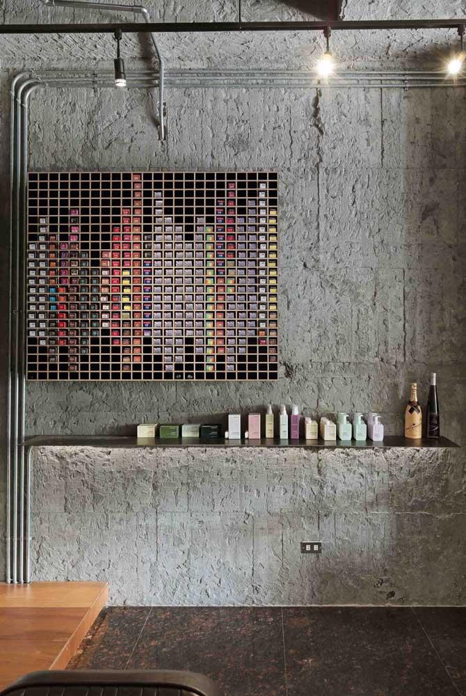 Um espaço dedicado aos produtos de beleza em perfeita organização