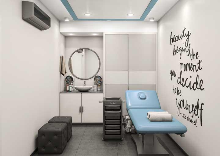 Uma sala própria somente para atender as demandas estéticas do salão de beleza