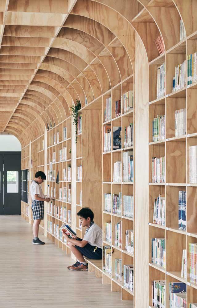 E esse modelo de estante que mais parece uma biblioteca?
