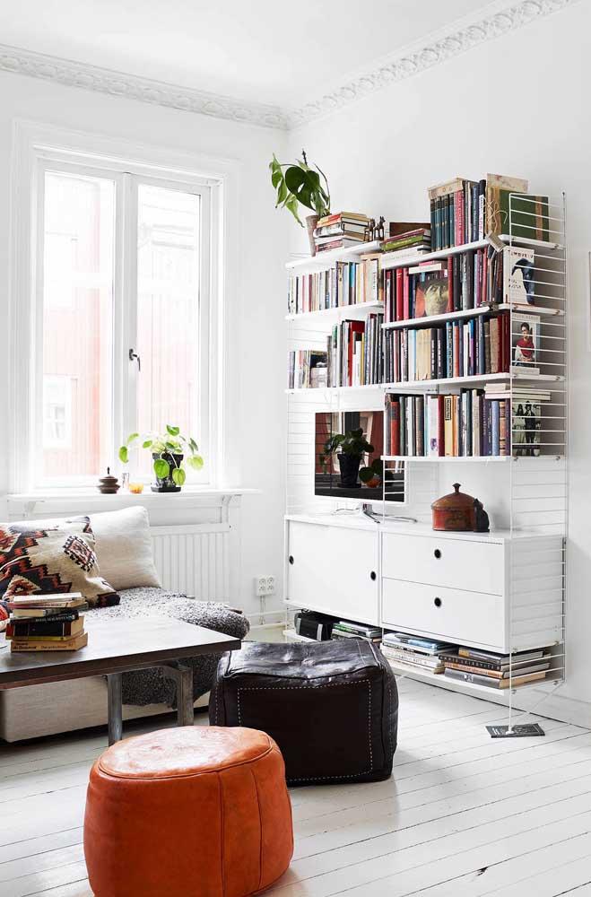 Aposte no modelo de estante mais vintage para combinar com sua decoração.