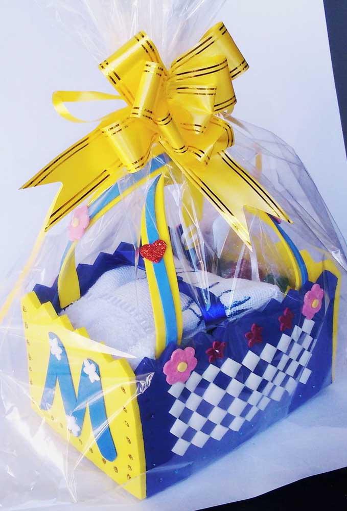 Opção de presente embalado em cesta de EVA personalizada
