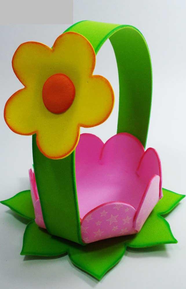 Base de flor para cesta de EVA com alça