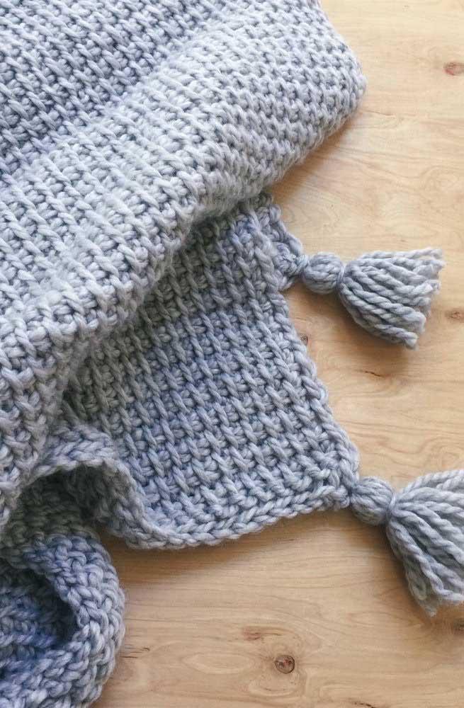 O destaque aqui vai para o acabamento do tapete de crochê Tunisiano