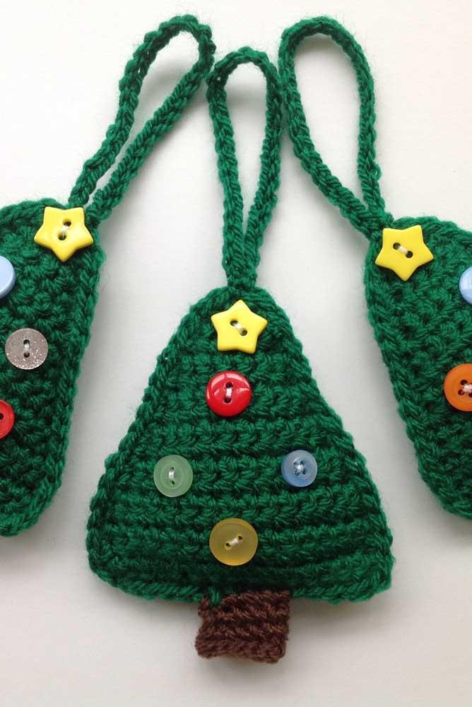Que linda inspiração de enfeites de Natal feitos em crochê Tunisiano