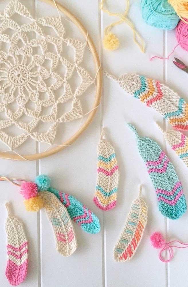Que tal um filtro dos sonhos feito em crochê Tunisiano? Linda inspiração!