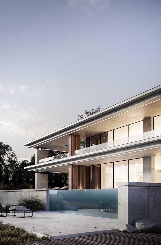 Fachada de Mansão moderna com piscina