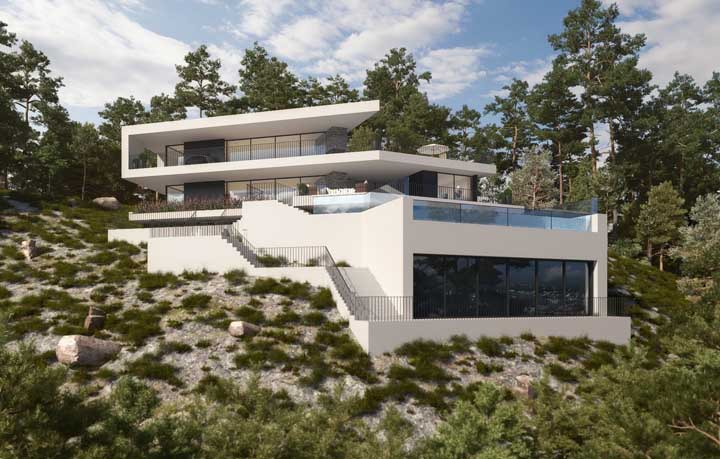 A valorização da vista e a paisagem ao redor da mansão também são muito importantes para imóveis desse tipo