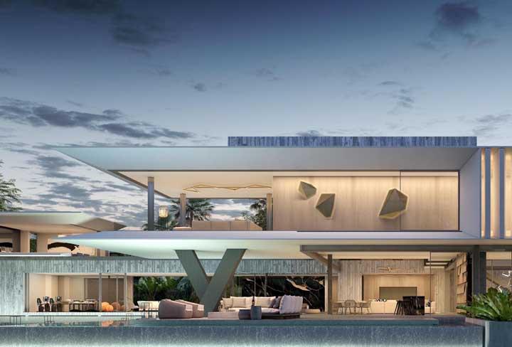As mansões são uma ótima oportunidade para os arquitetos destacarem suas ideias e estilo próprio