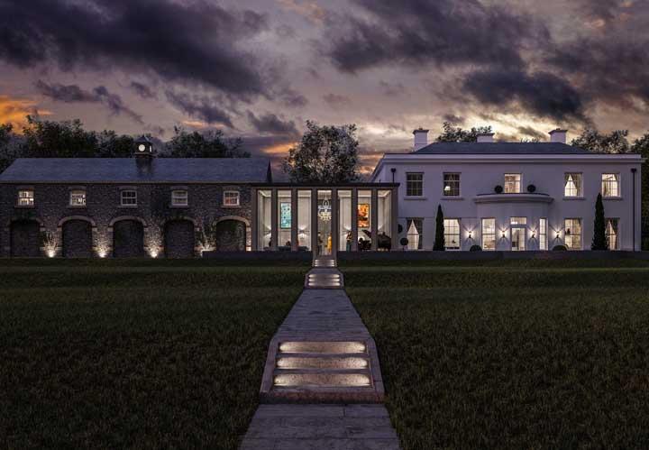 Uma mansão em dois estilos: Rústico e clássico, gostou dessa combinação?
