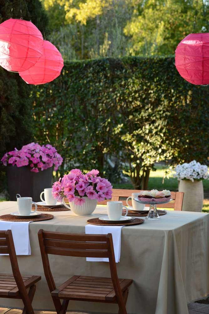 Leve as petúnias para a decoração da sua festa
