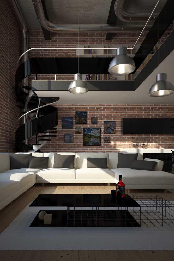 O estilo industrial casa como uma luva com os tijolos ecológicos