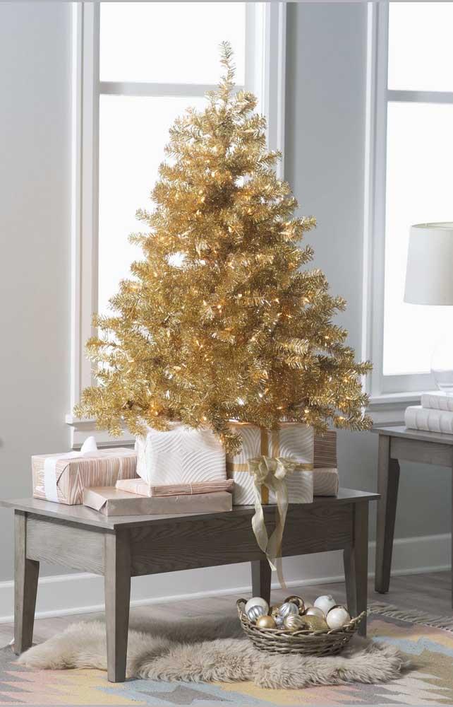 Onde mais colocar os presentes de natal se não for embaixo da árvore?