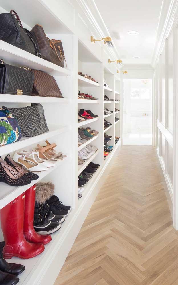 Closet de gesso grande, exclusivo para sapatos e bolsas