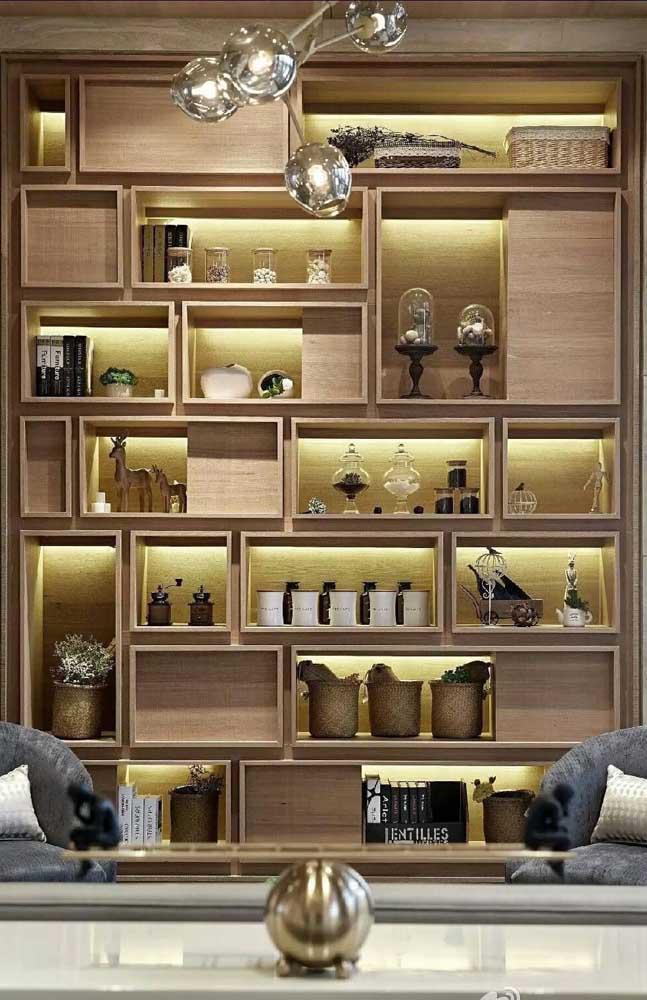Organização é fundamental para manter a beleza da decoração nos nichos de madeira
