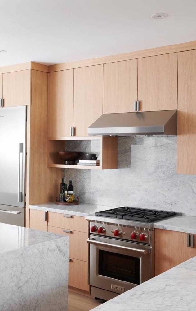 Na cozinha, os nichos são praticamente itens obrigatórios