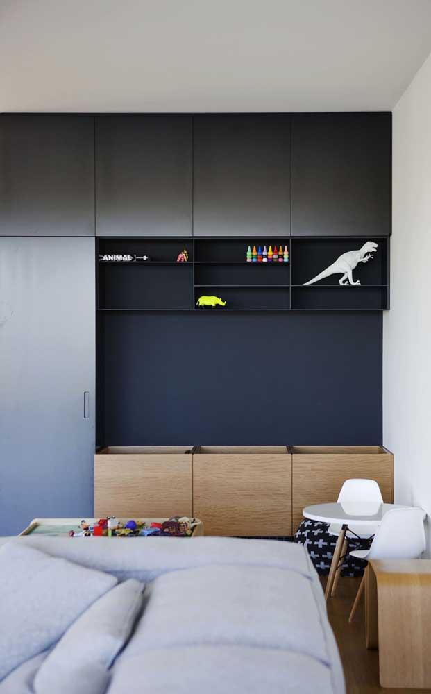 No quarto infantil, uma das principais funções dos nichos é a de organizar os brinquedos