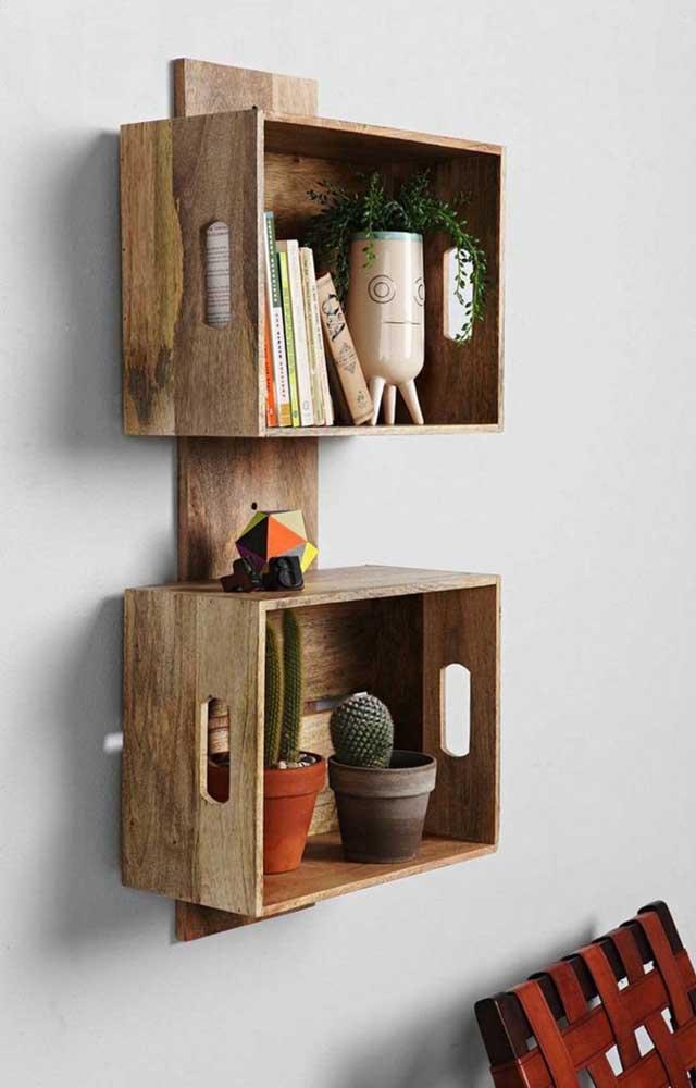 """Invista no """"faça você mesmo"""" e transforme caixotes em lindos nichos decorativos"""
