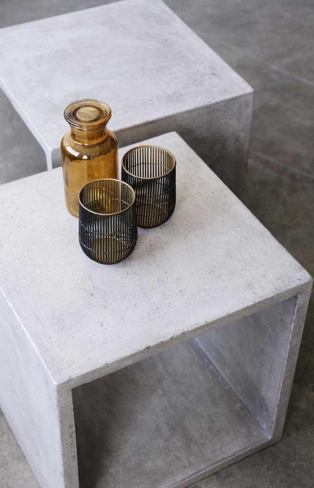 Bancos conceituais de concreto, verdadeiras peças de design que você pode facilmente reproduzir na sua casa