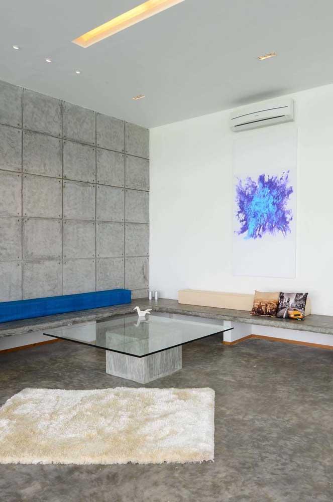 O banco de concreto é uma solução simples, barata e muito contemporânea para qualquer ambiente