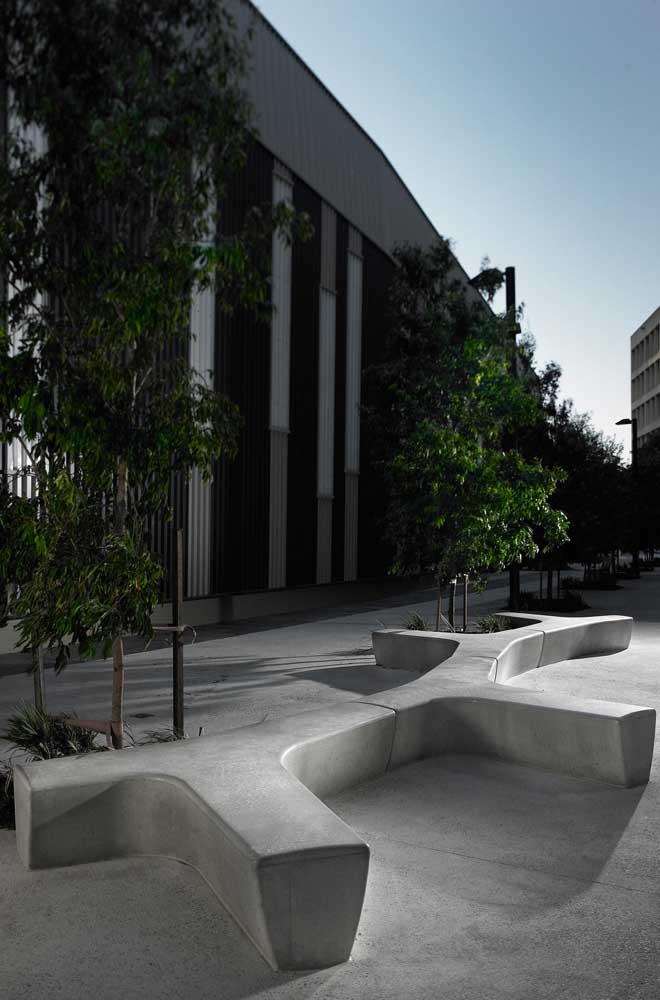 Tire o máximo de proveito possível da maleabilidade do concreto para criar formas únicas e originais
