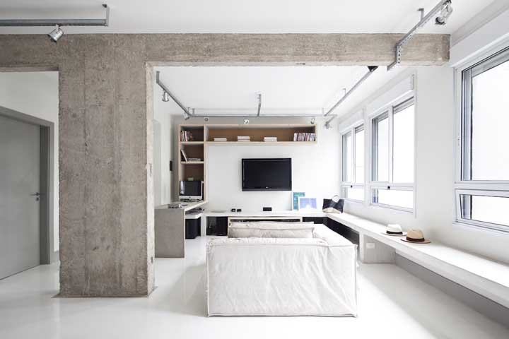 O que combina mais com banco de concreto do que estilo industrial?