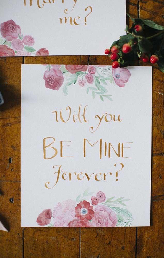 Placas decoradas para espalhar pela casa com recados para o namorado