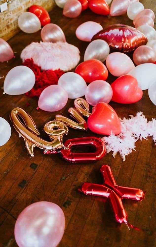 Modelos de balões para utilizar em surpresa romântica para o namorado