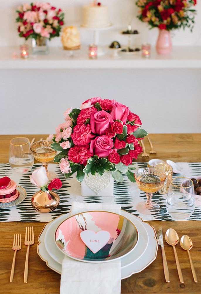 Que mesa perfeita para o dia dos namorados.