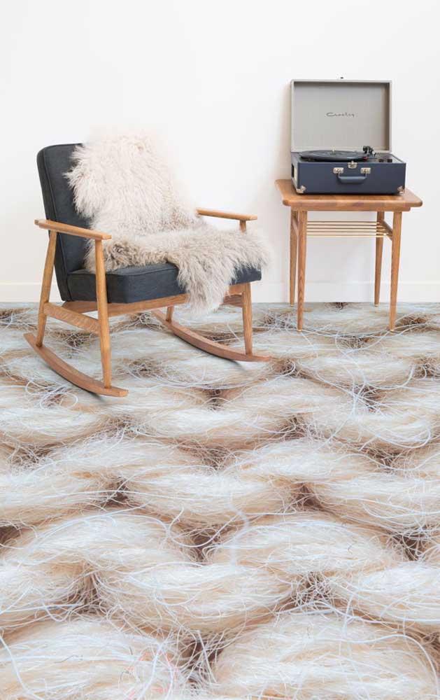 Opção de piso 3D mais discreto com efeito marmorizado