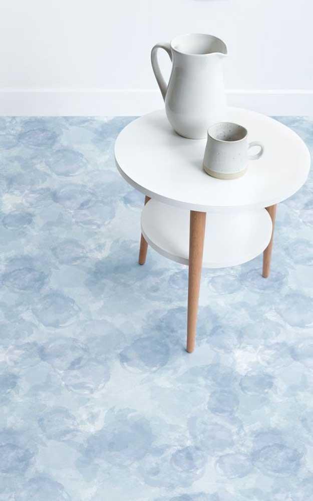 Super discreto, esse piso 3D se destaca pela suavidade de seus desenhos em perfeita harmonia com a decor clean do ambiente